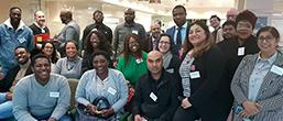 Group photo of attendees at the launch event