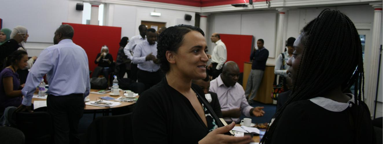 People talking at a BME Network event