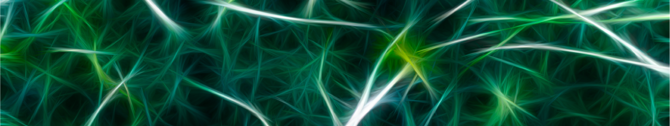 Neural connections painted green
